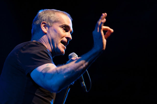 Henry Rollins Drop in the Bucket benefit concert- Avalon Hollywood November 2011 Photo by Erik Voake