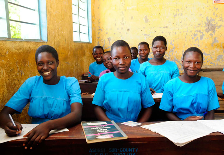 Students at the Akolodong Primary School in Uganda studying in class Gender Equality