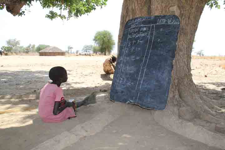This girl in South Sudan just finished her class, but went back to make sure she understood the lesson. Awareness and Education