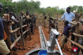 Drop in the Bucket Uganda water well Aisin village 12