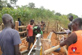 Drop in the Bucket Uganda water well Aisin village 18