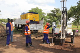 Drilling for water in Uganda with Drop in the Bucket