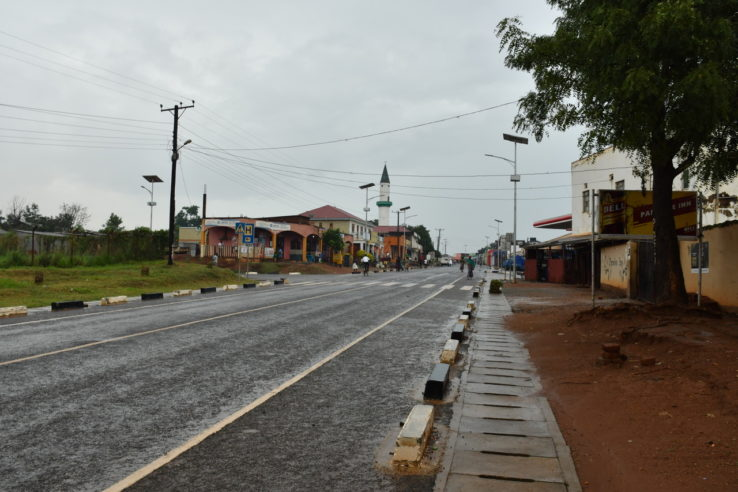 Empty streets in Kitgum Uganda during the Covid-19 pandemic